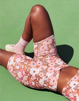"""Thumbnail for your product : aerie OFFLINE Real Me High Waisted Crossover 7"""" Bike Short"""