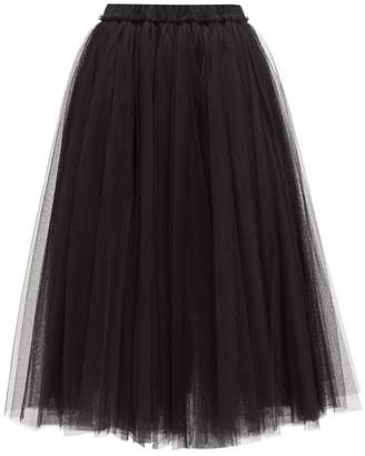 No.21 No. 21 - High-rise Tulle Midi Skirt - Womens - Black