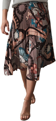Reiss Lolita Montage Print Pleat Skirt