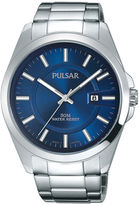 Pulsar Business Collection Mens Blue Dial Stainless Steel Watch