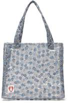 Shrimps Bay Embroidered Pvc Tote Bag - Womens - Clear Multi