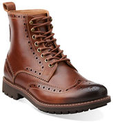 Clarks Montacute Leather Wingtip Boots