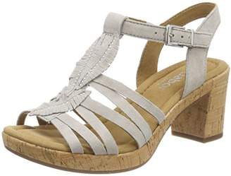 Gabor Shoes Women's Suede Uppers with Buckle Fastening Ankle Strap Sandals