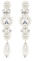 Thumbnail for your product : Simone Rocha Crystal-Embellished Drop Earrings