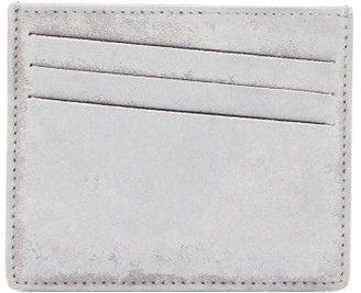 Maison Margiela Bar-tack Painted-suede Cardholder - White