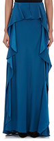 Alberta Ferretti WOMEN'S SATIN-BACK CREPE LONG SKIRT SIZE 40 IT