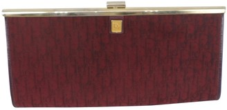 Christian Dior Burgundy Cloth Clutch bags