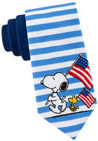 Lord & Taylor BOYS 8-20 Snoopy Marching Striped Tie