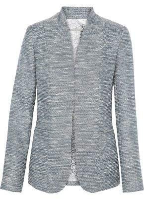 Elie Tahari Tori Metallic Tweed Blazer