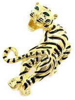 Brooched Plated Tiger Brooch
