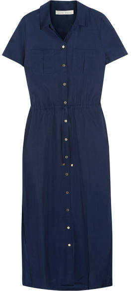 Heidi Klein Hamptons Voile Shirt Dress - Midnight blue