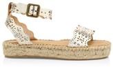 Soludos Cadiz Wave Perforated Metallic Leather Espadrille Sandals