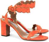 Tabitha Simmons Scarlet Suede Cloud Sandals