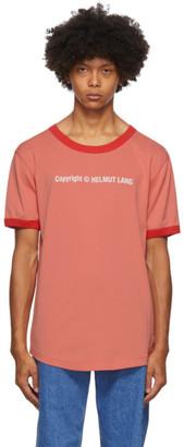 Helmut Lang Pink Copyright Logo T-Shirt