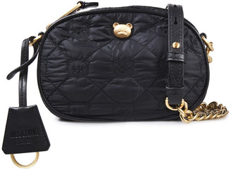Moschino Embellished Quilted Shell Shoulder Bag
