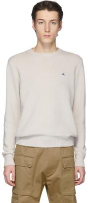 Etro Off-White Wool Crewneck Sweater
