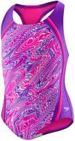 Speedo Girls 7-16 Printed Sport Splice One-Piece Swimsuit