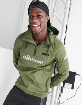 Ellesse Ion overhead jacket with reflective logo in green