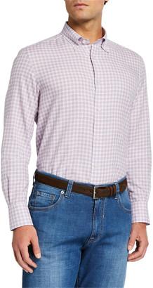 Neiman Marcus Men's Tattersall Check Sport Shirt