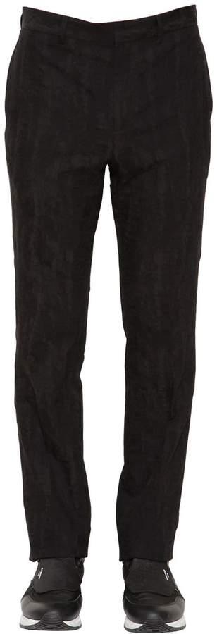 Givenchy Cotton & Wool Moiré Jacquard Pants