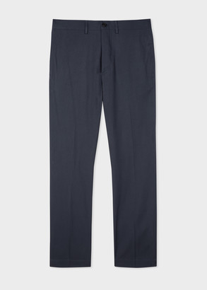 Men's Washed Navy Cotton Chinos