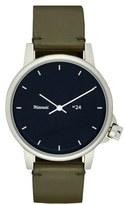 Miansai 'M24' Leather Strap Watch, 39mm