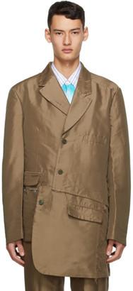 Comme des Garçons Homme Plus Khaki Double Twill Garment-Treated Blazer