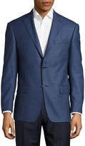 Michael Kors Slim-Fit Tonal Check Wool Sport Jacket