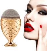 Mapletop Multicolor Fish Scale Makeup Brush Powder Blush Makeup Cosmetic Brushes Tool