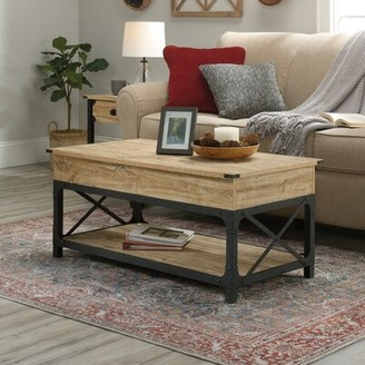 Three Posts Kortright Lift Top Coffee Table with Storage Color: Milled Mesquite