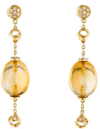 Di Modolo 18K Citrine & Diamond Drop Earrings