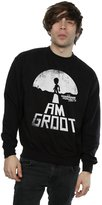 Marvel Men's Guardians of the Galaxy I Am Groot White Sweatshirt