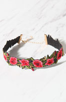 La Hearts Floral Embroidered Choker