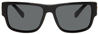 Versace Black and Gold Rock Icon Sunglasses