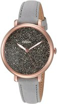Fossil Women's Quartz Stainless Steel and Leather Casual Watch, Color:Grey (Model: ES4096)