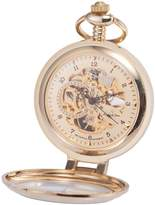 K&S KS KSP062 Men's Half Hunter Hand Wind Mechanical Pocket Watch