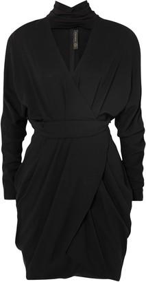 Versace Wrap-effect Cutout Crepe Mini Dress