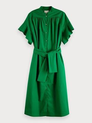 Maison Scotch Midi Length Cotton Dress - S / 0602 - Combo W
