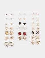 Full Tilt 20 Pairs Bird/Leaf/Medallion Earrings