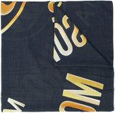 Moschino woven logo scarf