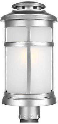 Feiss Newport Outdoor Post Lantern - Brushed Steel