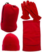 Simplicity Men Women Knit Winter Ski Set - Beanie, Gloves and Scarf