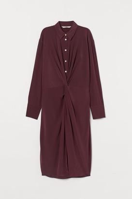 H&M Silk shirt dress