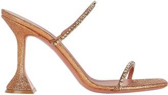 Amina Muaddi Gilda Glitter Slide Sandals