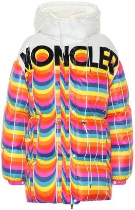 MONCLER GENIUS 0 MONCLER RICHARD QUINN Mia striped puffer jacket