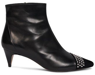 Isabel Marant Dhile Studded Leather & Suede Booties