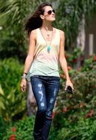 Denim Skinny Jean in Dark Rip - as seen on Alessandra Ambrosio - by Wildfox