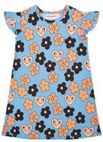 Mini Rodini Flower Print Frill Sleeve Dress