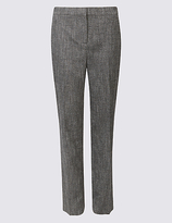 Classic Tweed Textured Straight Leg Trousers