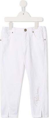 Roberto Cavalli Junior Logo Embroidered Slim-Fit Jeans